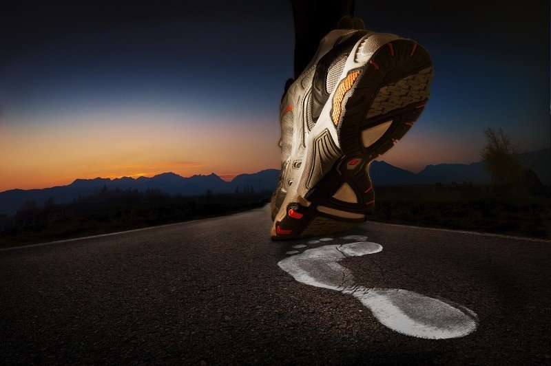 hardlopen om af te vallen